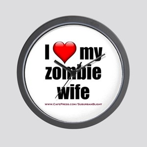 """Love My Zombie Wife"" Wall Clock"