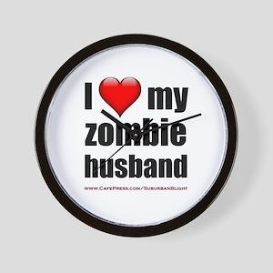 """Love My Zombie Husband"" Wall Clock"