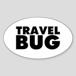 Travel Bug Sticker (Oval)