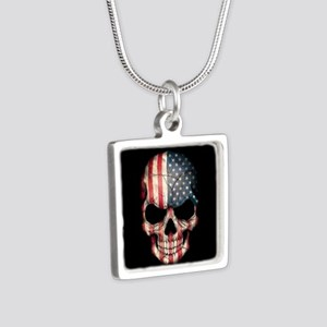 American Flag Skull Necklaces