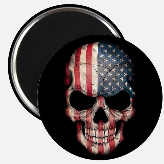American Flag Skull Magnets