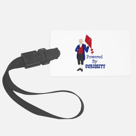 Powered By CURIOSITY Luggage Tag