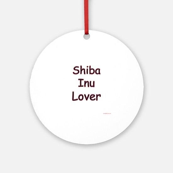 Shiba Inu Lover Ornament (Round)