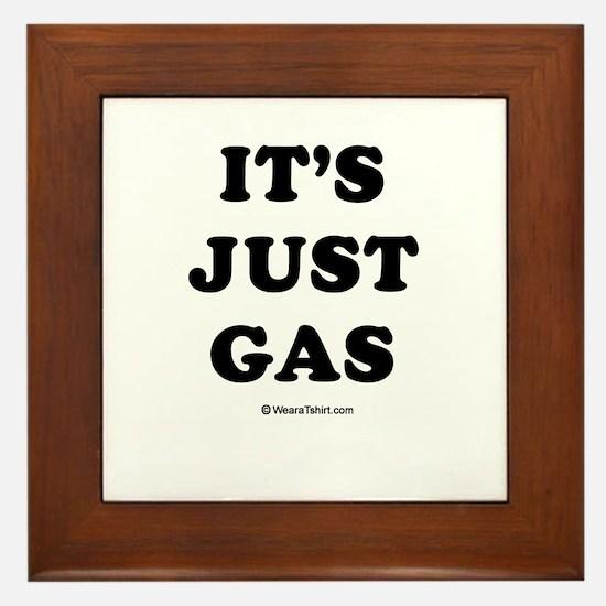 It's just gas / Baby Humor Framed Tile