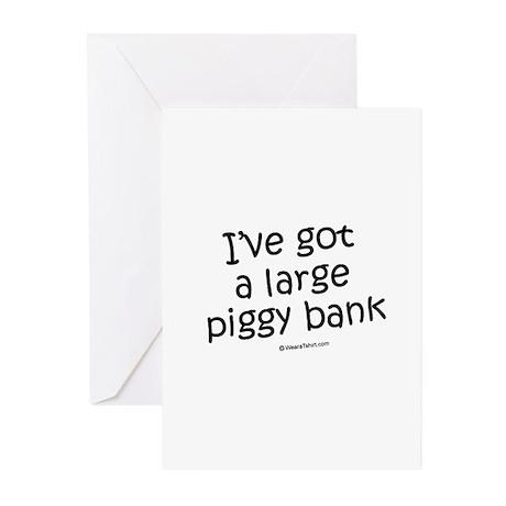 I've got a large piggy bank / Kids Humor Greeting
