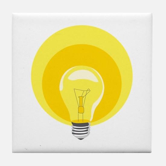 Edison Light Bulb Tile Coaster