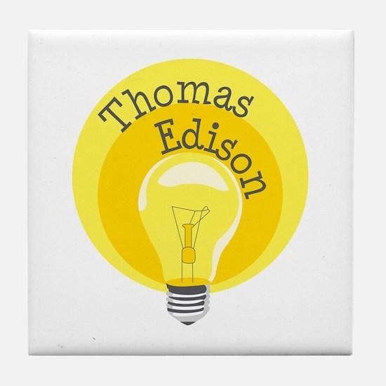 Thomas Edison Tile Coaster