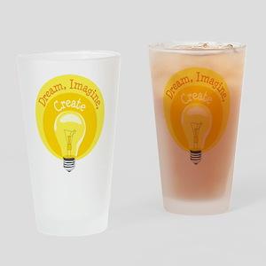 Dream, Imagine, Create Drinking Glass