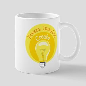 Dream, Imagine, Create Mugs