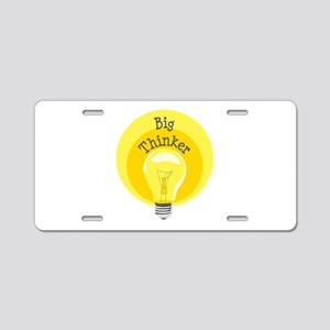 Big Thinker Aluminum License Plate