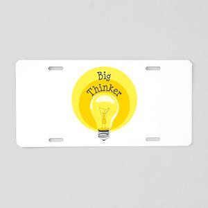 Big Thinker Aluminum License Plate