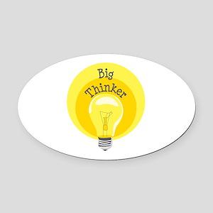 Big Thinker Oval Car Magnet