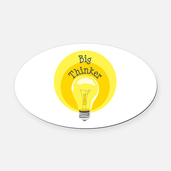 Big Thinker Oval Car Magnet