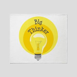 Big Thinker Throw Blanket
