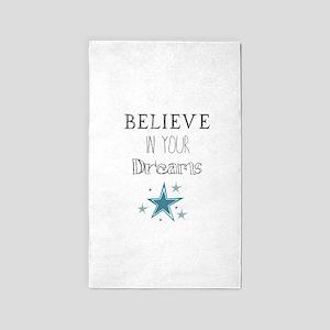 Believe in Your Dreams 3'x5' Area Rug