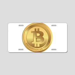Bitcoin Encryption We Trust Aluminum License Plate