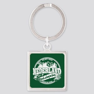 Nederland Old Circle Green Square Keychain