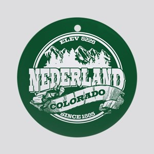 Nederland Old Circle Green Ornament (Round)