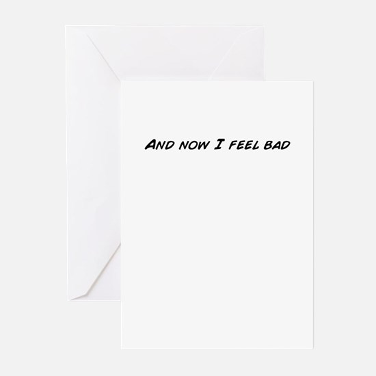 Cool Feel bad Greeting Cards (Pk of 20)