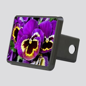 Beautiful purple pansy Rectangular Hitch Cover
