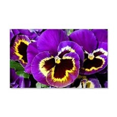 Beautiful purple pansy Wall Decal