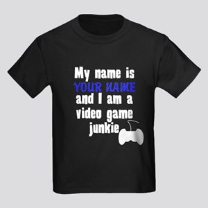 My Name Is And I Am A Video Game Junkie T-Shirt