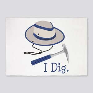 I Dig. 5'x7'Area Rug