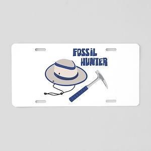 FOSSIL HUNTER Aluminum License Plate