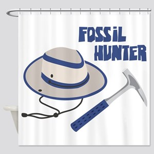 FOSSIL HUNTER Shower Curtain