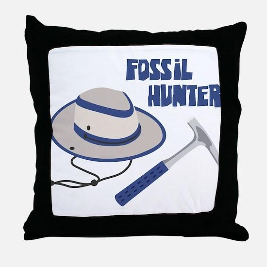 FOSSIL HUNTER Throw Pillow