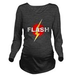 Flash Dark Long Sleeve Maternity T-Shirt