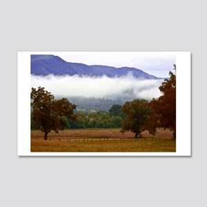 Cades Cove Landscape, Great Smoky 20x12 Wall Decal