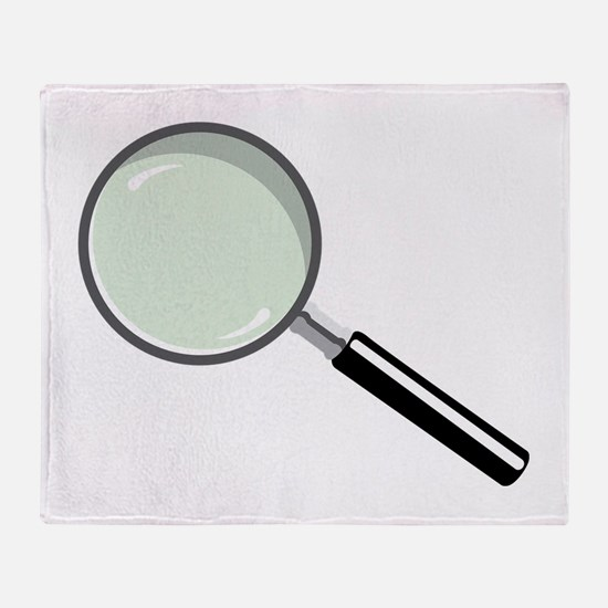 Magnifying Glass Throw Blanket