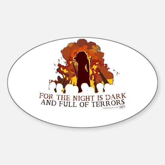 Full of Terrors Sticker (Oval)