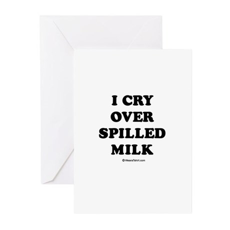 I cry over spilled milk / Baby Humor Greeting Card by tvtee
