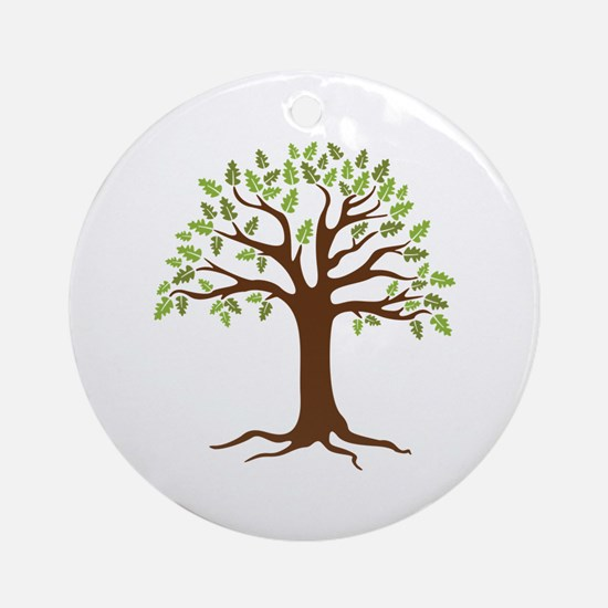 Oak Tree Ornament (Round)