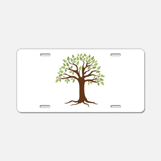 Oak Tree Aluminum License Plate