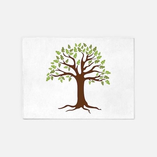 Oak Tree 5'x7'Area Rug