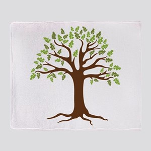 Oak Tree Throw Blanket