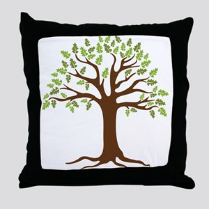Oak Tree Throw Pillow