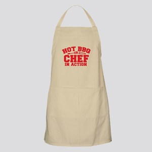 Hot BBQ Chef in Action Apron