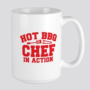 Hot BBQ Chef in Action Mugs