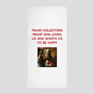 trash collector Beach Towel