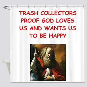 trash collector Shower Curtain