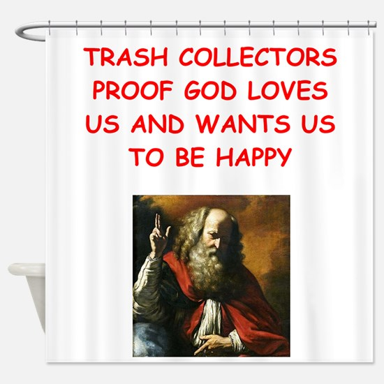 trash collector Shower Curtain
