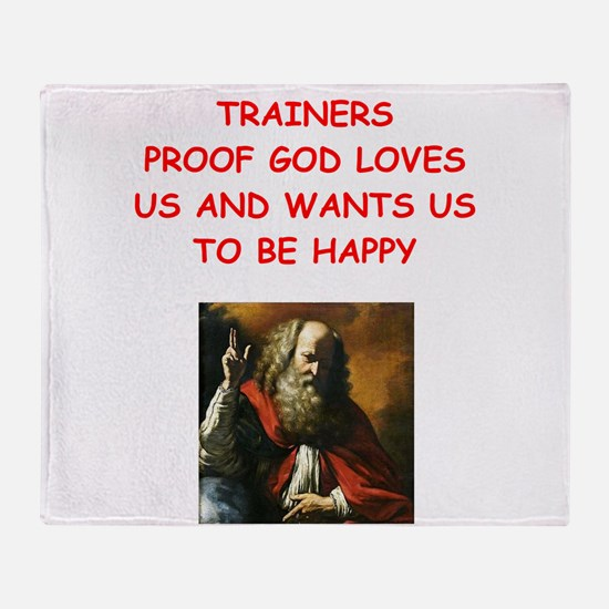 trainer Throw Blanket