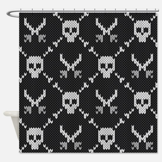 Goth Sweater Shower Curtain