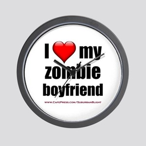 """Love My Zombie Boyfriend"" Wall Clock"