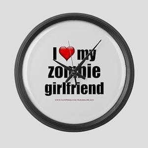 """Love My Zombie Girlfriend"" Large Wall Clock"