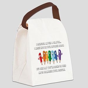 Crayon Canvas Lunch Bag